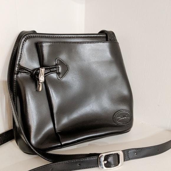 06972f4baac Longchamp Handbags - Longchamp Vintage Roseau Crossbody Leather France